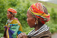 The Bonda tribe women are generally semi-clothed, characterised by the wearing of thick silver necklace bands