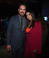 "SANTA MONICA - JANUARY 10: Mark-Paul Gosselaar and Emmanuelle Chriqui attend the red carpet premiere party for FOX's ""The Passage"" at The Broad Stage on January 10, 2019, in Santa Monica, California. (Photo by Frank Micelotta/Fox/PictureGroup)"