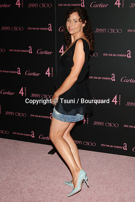 Minnie Driver arriving at the 4 Inches Party, A Project for Women about Women by Women to benefit the Elton Jones Foundation at Morton in Los Angeles. June 21, 2005.