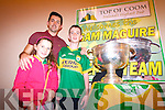 Kerry footballer, Aidan O'Mahony, with Darragh and Orla O'Brien.