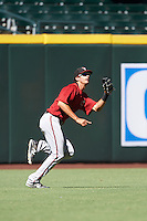 Arizona Diamondbacks Ben DeLuzio (10) during an Instructional League game against the Oakland Athletics on October 15, 2016 at Chase Field in Phoenix, Arizona.  (Mike Janes/Four Seam Images)