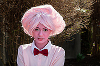 Pink Diamond from Steven Universe Series by Grumpawump Cosplay, Emerald City Comicon 2019, Seattle, WA, USA.