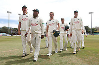 The victorious Notts player leave the field during Essex CCC vs Nottinghamshire CCC, Specsavers County Championship Division 1 Cricket at The Cloudfm County Ground on 23rd June 2018