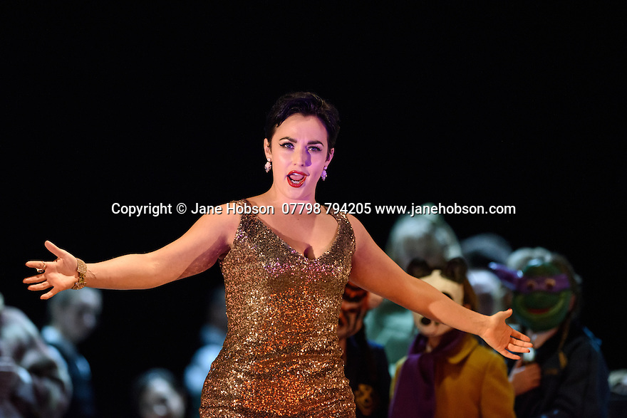 London, UK. 14.10.2015. English National Opera presents, in a co-production with Dutch National Opera, Amsterdam, Puccini's LA BOHEME, at the London Coliseum. Picture shows: Rhian Lois (Musetta).  Photograph © Jane Hobson.
