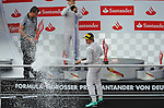 Podium - Valtteri Bottas (FIN), Williams F1 Team - Nico Rosberg (GER), Mercedes GP<br />  Foto &copy; nph / Mathis