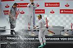 Podium - Valtteri Bottas (FIN), Williams F1 Team - Nico Rosberg (GER), Mercedes GP<br />  Foto &copy; nph / Mathis
