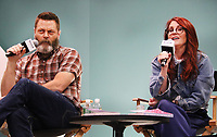 Megan Mullally and Husband Nick Offerman 6/1/2018<br /> 2018 Book Expo at the Javitz Center<br /> Photo By John Barrett/PHOTOlink/MediaPunch