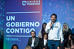 "Rafa Mayoral in the act of beginning of the campaign ""Unidas Podemos"" in Madrid. The spokesman of this party in Congress, Irene Montero, and the federal coordinator of IU, Alberto Garzón, intervene in it.<br /> October 31, 2019. <br /> (ALTERPHOTOS/David Jar)"