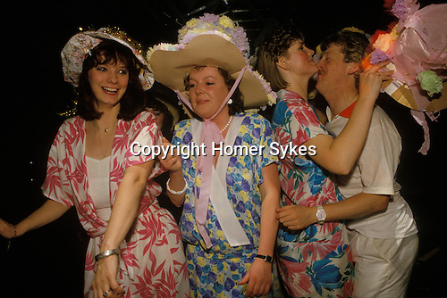 Thursday night Hen party at the Millionaires Club Birmingham England UK Girls have one last fling before their wedding. 1980s.