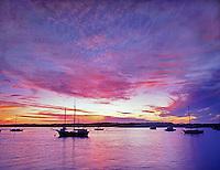 F00101.tiff   Sailboats and sunset. Morro Bay, California