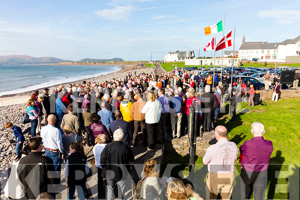 A great attendance for the monument unveiling to those lost at sea in Ballinskelligs Bay on Sunday with Canada & Denmark represented at the occasion.