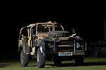 Land Rover 110 trials vehicle. Exhibited at the Dunsfold Collection Open Day 2006, Dunsfold, England, UK. --- No releases available. Automotive trademarks are the proper, authorization may be needed for some uses. --- Information: Early 1990s Land Rover 110 belonging to the Dunsfold Collection: chassis number SALLDHAF7KA930143, registration number L893 NHP, engine type 200 TDI, gearbox type 5-speed manual.Vehicle history: This interesting 110 is beleived to have been a trials vehicle for the Malaysian Army in 1993. It had stood in compound for around eight years in the open before finding its way into the Collection. There is still a lot to be found out about the history and who built it. This would have been one of the first vehicles to have adopted the roll cage / gun mount system which is now standard on all SOV (Special Operation Vehicle) variants.