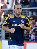 Stanford, California - Saturday June 30, 2012: Landon Donovan warming up before start of San Jose Earthquakes and Los Angeles Galaxy's match at Stanford Stadium, Stanford, Ca.San Jose Earthquakes defeated Los Angeles Galaxy,  4 to 3