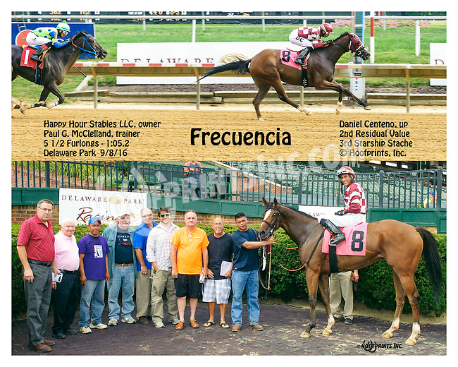 Frecuencia winning at Delaware Park on 9/8/16