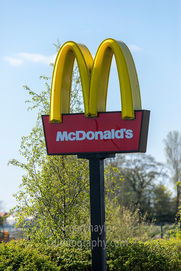 McDonald's closed due to Covid-19 - Lincolnshire, April 2020