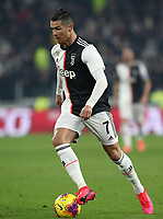Calcio, Coppa Italia round 8 : Juventus - AS Roma, Turin, Allianz Stadium, January 22, 2020.<br /> Juventus' Cristiano Ronaldo in action during the Italian Cup football match between Juventus and Roma at the Allianz stadium in Turin, January 22, 2020.<br /> UPDATE IMAGES PRESS/Isabella Bonotto