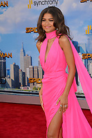Zendaya at the world premiere for &quot;Spider-Man: Homecoming&quot; at the TCL Chinese Theatre, Los Angeles, USA 28 June  2017<br /> Picture: Paul Smith/Featureflash/SilverHub 0208 004 5359 sales@silverhubmedia.com