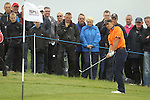 Joost Luiten chips onto the 1st green on day 4 of the ISPS Handa Wales Open 2012...03.06.12.©Steve Pope