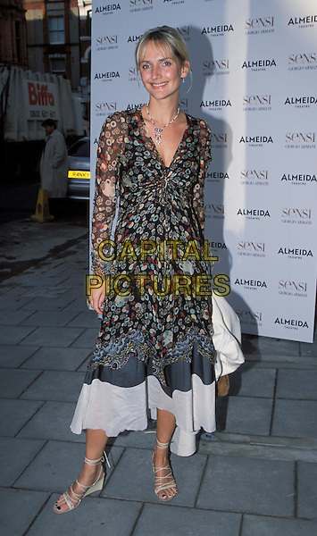 SAFFRON ALDRIDGE.The Lady From The Sea Gala Performance at Almeida Theatre.www.capitalpictures.com.sales@capitalpictures.com.© Capital Pictures..wedges, wedge heels