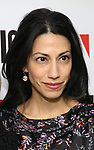 """Huma Abedin attends the """"Sea Wall / A Life"""" opening night at The Public Theater on February 14, 2019, in New York City."""