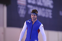SPEED SKATING: SALT LAKE CITY: 19-11-2015, Utah Olympic Oval, ISU World Cup, training, Joey Mantia (USA), ©foto Martin de Jong