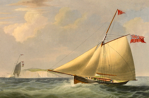 The racing cutter Harriet with which the Earl of Belfast first made his mark in the 1820s.