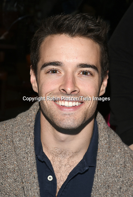 Corey Cott  attends the Broadway Cares/Equity Fights Aids Flea Market and Grand Auction on September 25, 2016 at the Music Box Theatre and in Shubert Ally in New York, New York, USA. <br /> <br /> photo by Robin Platzer/Twin Images<br />  <br /> phone number 212-935-0770