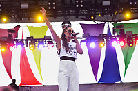 Washington, DC - June 10, 2018: Grammy nominated entertainer Keri Hilson performs at the 2018 Capitol Pride concert in Washington, D.C. June 10, 2018.  (Photo by Don Baxter/Media Images International)