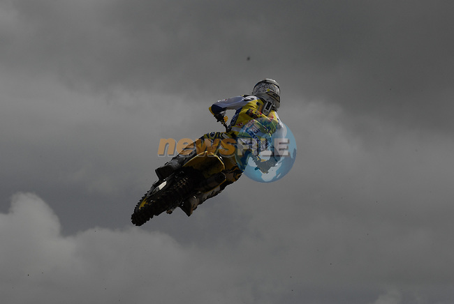Steve Ramon (BEL) gets big air at the table top jump in the MX1 Grand Prix Race1 during the Motocross Grand Prix at Fairyhouse Race Course, Co.Meath, Ireland, 31st August 2008.(Photo Eoin Clarke/Newsfile)