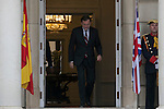 Spanish Prime Minister Mariano Rajoy leaves Moncloa Palace before meeting British Prime Minister David Cameron in Madrid, Spain. Spetember 04, 2015. (ALTERPHOTOS/Victor Blanco)