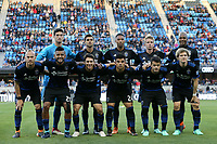 San Jose, CA - Saturday May 05, 2018: San Jose Earthquakes Starting Eleven during a Major League Soccer (MLS) match between the San Jose Earthquakes and the Portland Timbers at Avaya Stadium.