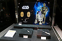 An 5,682 USD commemorative 24k gold coins set of the film Star Wars on display at the Ginza Tanaka jewelry store in Ginza on November 19, 2015, Tokyo, Japan. In May 2015 Ginza Tanaka began launching Star Wars commemorative 24k gold coin sets, in prices ranging from 500 to 8000 USD. All the sets sold out and now the jewelry store is preparing a new piece to commemorate the film Star Wars The Force Awakens. (Photo by Rodrigo Reyes Marin/AFLO)