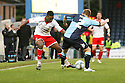 Don Cowan of Stevenage takes on Danny Foster of Wycombe. - Wycombe Wanderers v Stevenage - Adams Park, High Wycombe - 31st December 2011  .© Kevin Coleman 2011