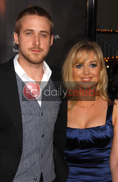 Ryan Gosling and sister Mandi<br />