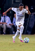 13th July 2020, Orlando, Florida, USA;  Los Angeles Galaxy forward Cameron Dunbar (60) runs with the ball during the MLS Is Back Tournament between the LA Galaxy versus Portland Timbers on July 13, 2020 at the ESPN Wide World of Sports, Orlando FL.