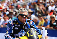 Mar 13, 2015; Gainesville, FL, USA; NHRA funny car driver John Force during qualifying for the Gatornationals at Auto Plus Raceway at Gainesville. Mandatory Credit: Mark J. Rebilas-