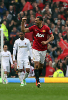 Pictured: Rio Ferdinand.<br /> Sunday 12 May 2013<br /> Re: Barclay's Premier League, Manchester City FC v Swansea City FC at the Old Trafford Stadium, Manchester.
