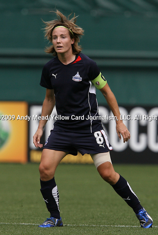 18 July 2009: Washington's Sonia Bompastor (FRA). The Washington Freedom defeated Saint Louis Athletica 1-0 at the RFK Stadium in Washington, DC in a regular season Women's Professional Soccer game.