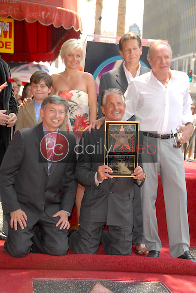 Leron Gubler with George Hamilton and James Caan<br />
