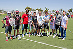 Costa Mesa, CA 06/05/11 - Members of the Team STX and Team Cascade hold a lacrosse clinic before the Adrenaline All-Stars and LXM PRO Tour game at Orange Coast College.