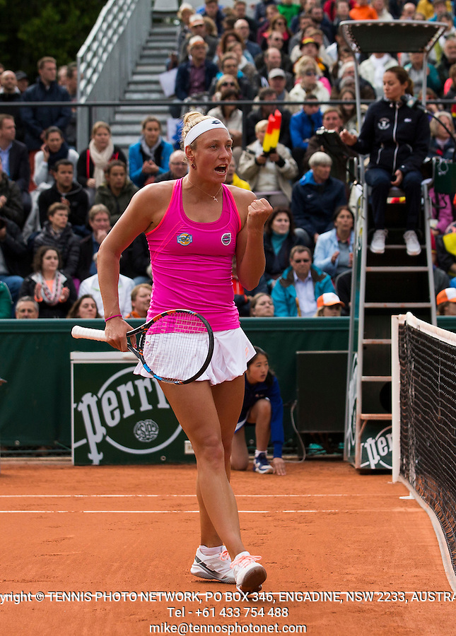 YANINA WICKMAYER (BEL)<br /> <br /> TENNIS - FRENCH OPEN - ROLAND GARROS - ATP - WTA - ITF - GRAND SLAM - CHAMPIONSHIPS - PARIS - FRANCE - 2016  <br /> <br /> <br /> <br /> &copy; TENNIS PHOTO NETWORK