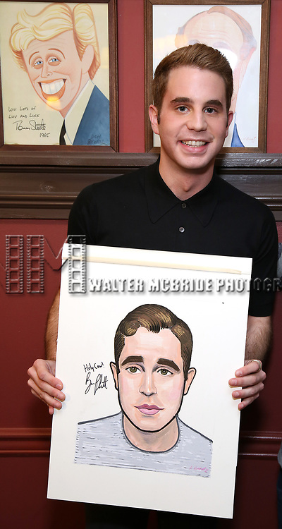 Ben Platt during the Ben Platt Sardi's Portrait unveiling at Sardi's on May 30, 2017 in New York City.