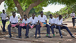 Boys in the De La Salle Brothers Secondary School, temporarily located in the Loreto School in Rumbek, South Sudan.