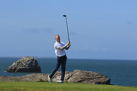 Darren O'Sullivan (Tralee) on the 4th tee during the Munster Final of the AIG Barton Shield at Tralee Golf Club, Tralee, Co Kerry. 12/08/2017<br /> Picture: Golffile | Thos Caffrey<br /> <br /> <br /> All photo usage must carry mandatory copyright credit     (&copy; Golffile | Thos Caffrey)