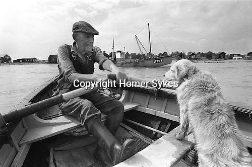 Southwold ferry across the river Blyth to Walberswick Suffolk. UK. 1984.