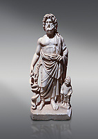 Roman statue of Asklepios. Marble. Perge. 2nd century AD. Inv no . Antalya Archaeology Museum; Turkey.<br /> <br /> Asclepius was a hero and god of medicine in ancient Greek religion and mythology.