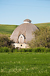 Round barn on a farm in Washington's Palouse.