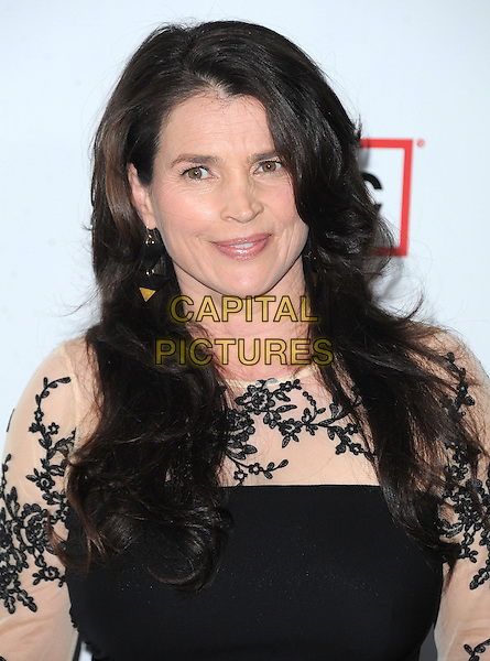 "Julia Ormond.""Mad Men"" Season Six Los Angeles Premiere held at the Director's Guild of America, West Hollywood, California, USA.     .March 20th, 2013.headshot portrait black lace white cream .CAP/DVS.©DVS/Capital Pictures."