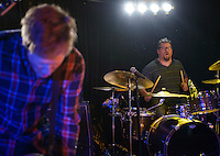 Eric Kross drives the drum kit and gives big sweaty hugs with Delmag Friday at Koot's.