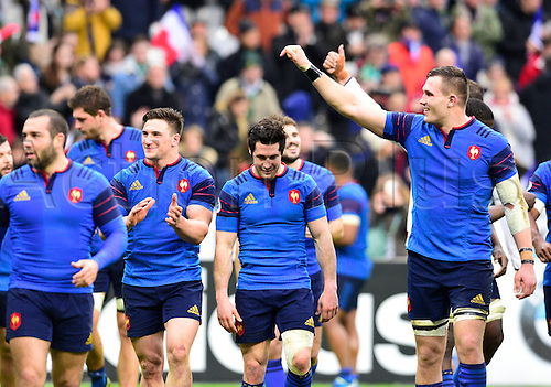 13.02.2016. Stade de France, Paris, France. 6 Nations Rugby international. France versus Ireland.  France relish their win